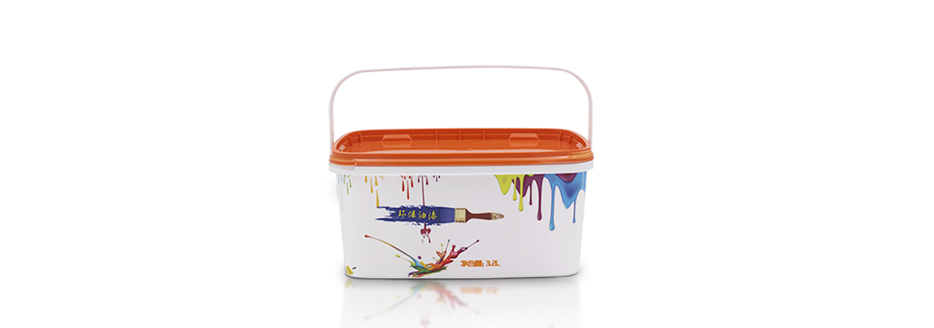 3.2L glue bucket (cover + handle)