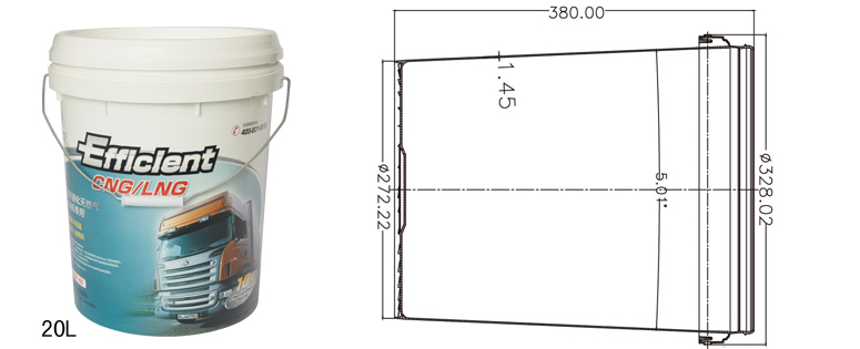 Specifications for 20L container